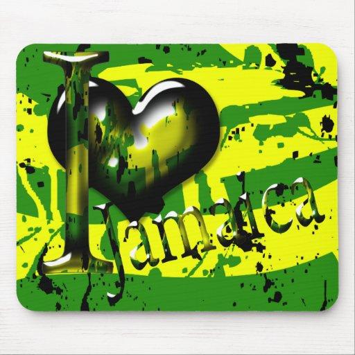 Amo (corazón) Jamaica Mousepad Tapete De Ratón