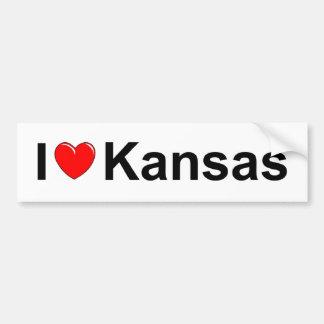 Amo (corazón) Kansas Pegatina Para Auto