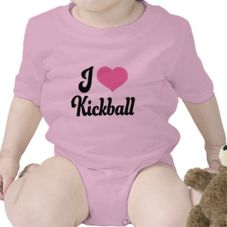 Amo (corazón) Kickball Trajes De Bebé