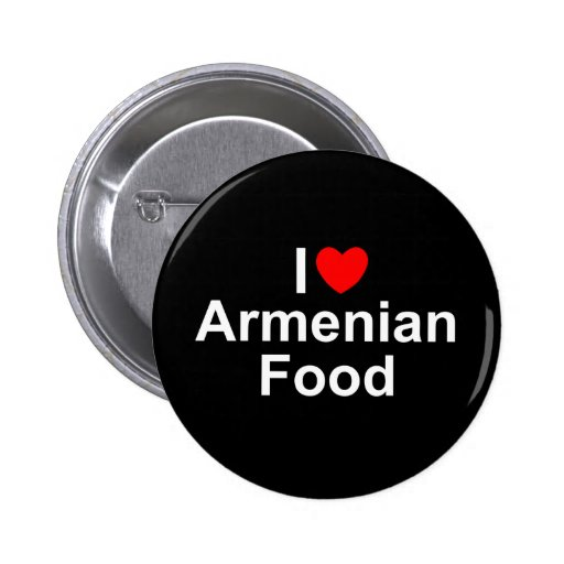 Amo (corazón) la comida armenia pin