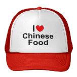 Amo (corazón) la comida china gorra