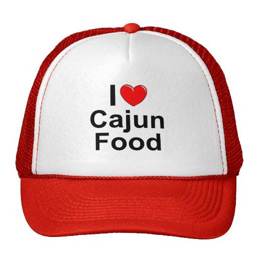 Amo (corazón) la comida de Cajun Gorro