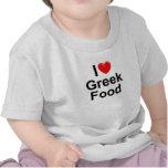 Amo (corazón) la comida griega camiseta
