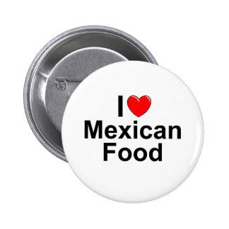 Amo (corazón) la comida mexicana pin