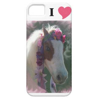 Amo (corazón) la cubierta miniatura de IPhone de iPhone 5 Funda