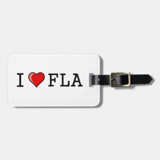 Amo (corazón) la Florida Etiquetas De Maletas
