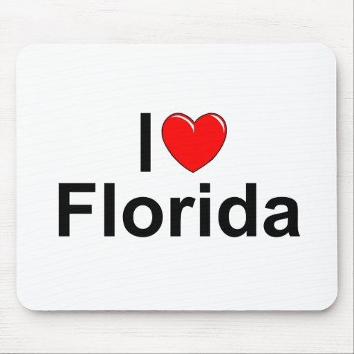 Amo (corazón) la Florida Tapete De Ratones
