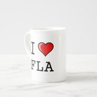 Amo (corazón) la Florida Taza De Porcelana