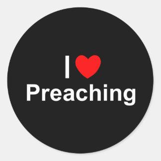 Amo corazón la predicación pegatinas