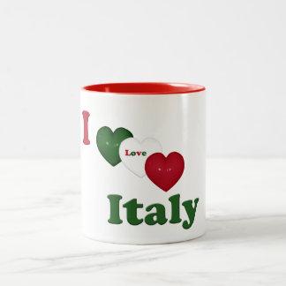 Amo (corazón) la taza de Italia