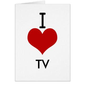 Amo (corazón) la TV Tarjeta De Felicitación