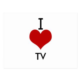 Amo (corazón) la TV Tarjeta Postal