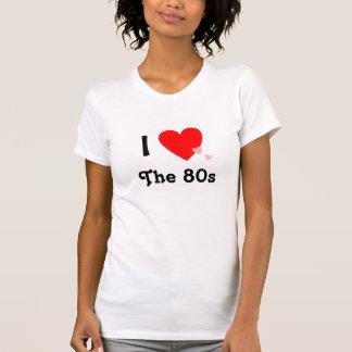Amo (corazón) los años 80 playeras