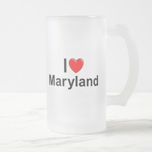 Amo (corazón) Maryland Taza Cristal Mate