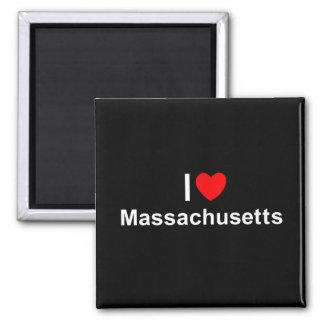 Amo (corazón) Massachusetts Imanes De Nevera