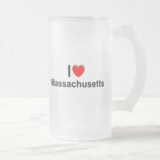 Amo (corazón) Massachusetts Tazas
