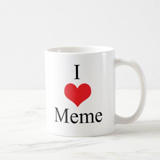 Amo (corazón) Meme Taza