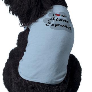 Amo (corazón) mi Alano Espanol Camisetas De Perrito