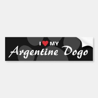 Amo (corazón) mi Argentina Dogo Pegatina De Parachoque