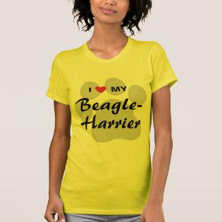 Amo (corazón) mi Beagle-Corredor de cross Playera