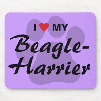 Amo (corazón) mi Beagle-Corredor de cross Tapete De Ratones