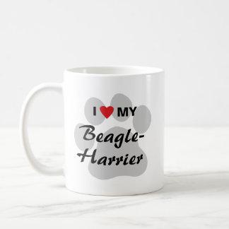 Amo (corazón) mi Beagle-Corredor de cross Taza De Café