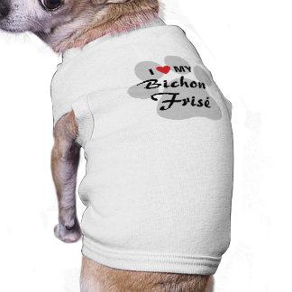 Amo (corazón) mi Bichon Frise Camisetas Mascota