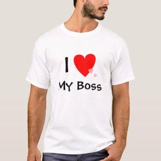 Amo (corazón) mi Boss Playera