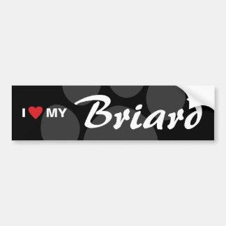 Amo (corazón) mi Briard Pegatina Para Auto
