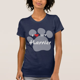 Amo (corazón) mi corredor de cross Pawprint Camisetas