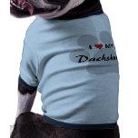 Amo (corazón) mi Dachshund Pawprint Camisa De Perrito