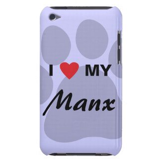 Amo (corazón) mi diseño de Pawprint del gato de la Case-Mate iPod Touch Carcasa