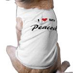 Amo (corazón) mi diseño de pistas del pájaro del p camisetas de mascota