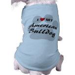 Amo (corazón) mi dogo americano camisa de mascota