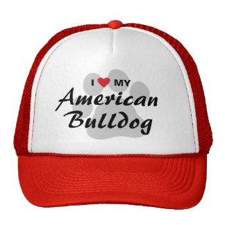 Amo (corazón) mi dogo americano gorra
