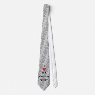 Amo (corazón) mi Gampr armenio Corbata Personalizada
