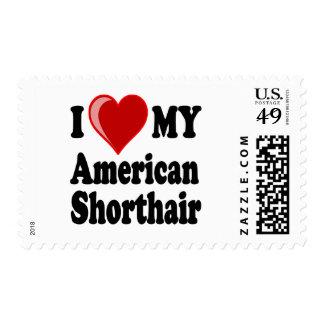 Amo (corazón) mi gato americano de Shorthair Envio