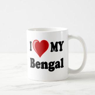 Amo (corazón) mi gato de Bengala Taza De Café