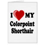 Amo (corazón) mi gato de Colorpoint Shorthair Felicitación