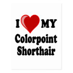 Amo (corazón) mi gato de Colorpoint Shorthair Tarjeta Postal