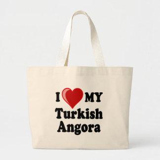 Amo (corazón) mi gato turco del angora bolsas