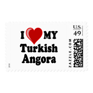 Amo (corazón) mi gato turco del angora sellos