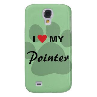 Amo (corazón) mi indicador Pawprint Funda Para Galaxy S4