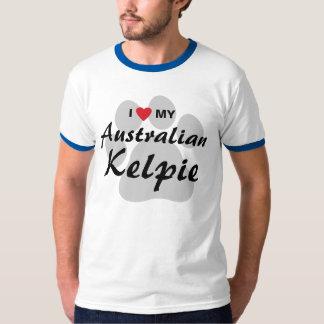 Amo (corazón) mi Kelpie australiano Playera