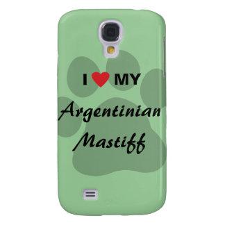 Amo (corazón) mi mastín argentino funda samsung s4