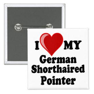 Amo (corazón) mi perro alemán del indicador de pel pin