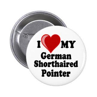 Amo (corazón) mi perro alemán del indicador de pel pins