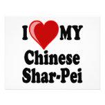 Amo (corazón) mi perro chino de Shar-Pei Anuncios Personalizados