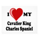 Amo (corazón) mi perro de aguas de rey Charles arr Comunicados