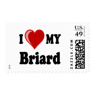 Amo (corazón) mi perro de Briard Sellos